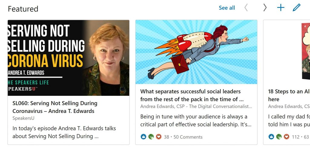 new linkedin featured section