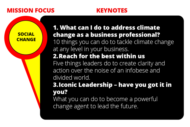 social leadership keynotes